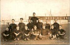 Vintage Real Photo RPPC Velox 1907-14 Chicago? Football Team Advertising