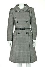 SYBIL CONNOLLY Black & White Glen Plaid Coat or Coat Dress SIZE M 8