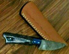 MH KNIVES CUSTOM HANDMADE DAMASCUS STEEL FULL TANG HUNTING/SKINNER KNIFE 211J