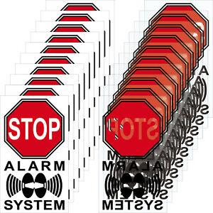 10+10 Aufkleber 4cm rot Sticker Alarm System Alarmanlage Hinweis Innenseite Glas
