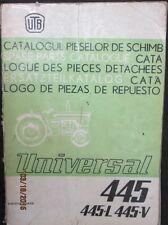 Universal Tractor 445  445-L 445-V Parts Catalogue Manual Factory Original OEM