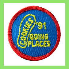 1991 COOKIE SALE Patch EUC Girl Scout Going Places Footprint Badge Combine Ship