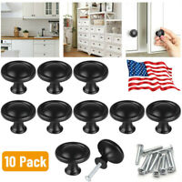 10pcs  Round Kitchen Cabinet Cupboard Drawer Door Pull Handle Knob