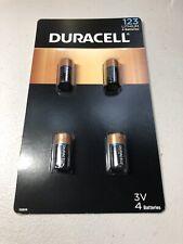 4x Duracell CR123A CR17345 DL123A 123A CR123 3V Ultra Lithium Batteries EXP 2028