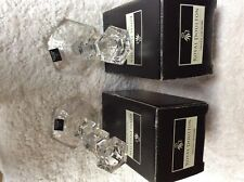 Pair of Royal Doulton Crystal Candlesticks Rutland 155mm