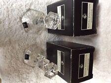 Pair of Royal Doulton Crystal Candlesticks Rutland 155mm