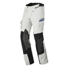 Pantaloni in tessuto grigio per motociclista Donna