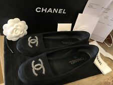 Chanel Black Ballerina Flats 36 Shoes With Box Receipt Bags