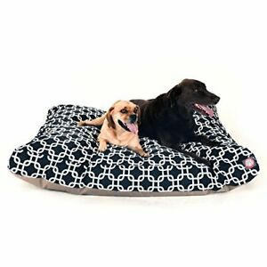 Black Links Extra Large Rectangle Indoor Outdoor Pet Dog Bed With Removable W...