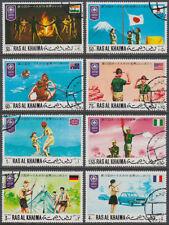 Ras al Khaima 1971 used Mi.519/26 A Pfadfinder Scouts Scouting