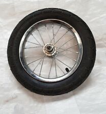 """12"""" Inch Bike Bicycle or Scooter wheel with tyre and spindle 12.5 x 2.25 inches"""