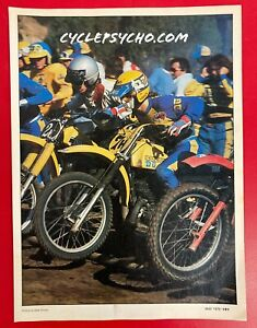 Vintage Motocross Motorcycle Magazine Ad Suzuki Yamaha 1978