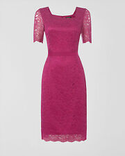 Jaeger Purple Lace Dress Size 14 RRP £199