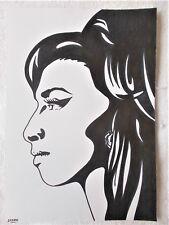 A4 Bolígrafo Marcador De Arte Dibujo Amy Winehouse músico C Cartel