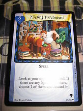HARRY POTTER TRADING CARD TCG QUIDDITCH CUP MISSING PARCHMENT 41/80 UNCO EN MINT