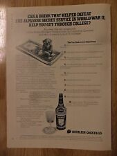 1972 Print Ad Heublein Brass Monkey Cocktail ~ Helped Defeat The Japanese
