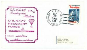 Space Program Naval Recovery Force Postal Cover, 1966