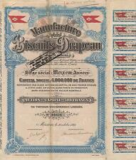 BELGIUM BISCUIT CO stock certificate 1923...DRAPEAU BISCUITS