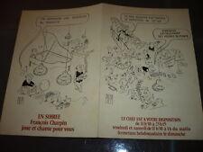 MENU RESTAURANT 1970 ILLUSTRE PAR PIEM  PARIS