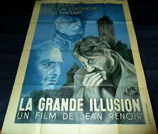 1937 La grande illusion ORIGINAL FRENCH 1Panel POSTER  Jean Renoir Jean Gabin