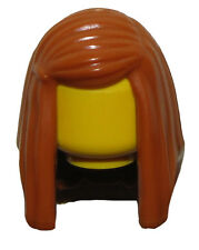 LEGO NEW DARK ORANGE MINIFIGURE HAIR WOMENS FEMALE LONG STRAIGHT GIRL WIG