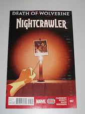 NIGHTCRAWLER #7 MARVEL NOW COMICS DECEMBER 2014 VF (8.0)