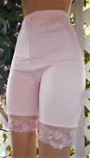 "PETAL PINK SILKY SATIN SPANDEX  & LACE COUNTOURED 20"" PANTY GIRDLE XL/32"