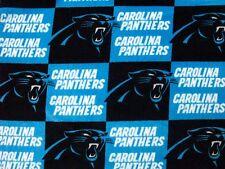 2-NFL CAROLINA PANTERS PRINTED FLEECE KING PILLOW CASES-BLACK FLEECE BACK