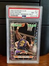 1992-93 Stadium Club Members Only Beam Team Karl Malone #17 PSA 8 NM-MT
