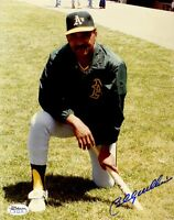 BILLY WILLIAMS A`S SIGNED JSA CERT STICKER 8X10 PHOTO AUTHENTICATED AUTOGRAPH