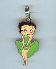 BETTY BOOP, Lady, Green Dress Charm, Bead fits European & Charm Bracelets - F934