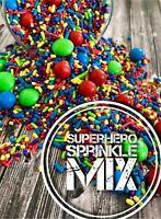 Superhero Sprinkles Mix cupcake cake  spiderman Avengers hulk Superman