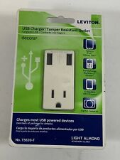 Light Almond Leviton T5630-T USB Charger Outlet/Tamper-Resistant Receptacle15Amp