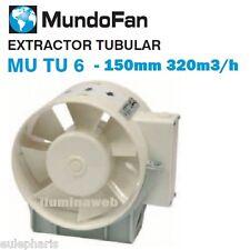 150mm Extractor de aire en l/ínea con Rejilla VKO Winflex 300 m/³//h