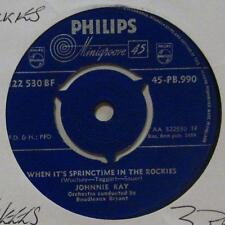 """Johnnie Ray(7"""" Vinyl 1959 1st Issue)When It's Springtime In The Rockers-UK-Ex/Ex"""