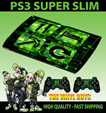 PLAYSTATION PS3 SUPER SLIM EAT SLEEP MINE REPEAT SKIN STICKER & 2 X PAD SKINS