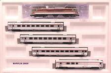 MARKLIN 26608 Convoglio TEE  ETOILE DU NORD con CC 40100 + 4 carrozze DEV INOX