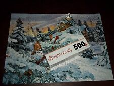 Touch of Frost Winter Memories with Cardinal Jigsaw Puzzle 500 Pieces Sure-Lox