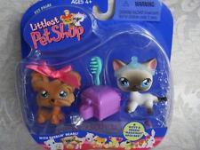 Littlest Pet Shop 1st 80 Pets SIAMESE CAT lot #5 SHIH TZU #6 Rare Retired NIB 04