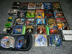 LOT 21 + PS1 & PS2 VIDEO GAMES & ACCESSORIES KENGO FUR FIGHTERS TIME SPLITTERS