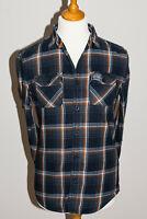 Superdry Mens 100% Cotton Casual Lumberjack Style Flannel Shirt Blue - Medium