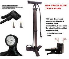 Cycle Track Pump,  160PSI High Pressure Standing Bicycle Pump RDK TRACK ELITE