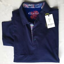 NWT  ROBERT GRAHAM Stoked Embroidered S/S Polo Golf Shirt Mens XL Blue Paisley