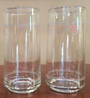 VINTAGE Corelle ENGLISH BREAKFAST Drinking Glass Tumblers