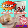 New! 70g. SNAIL WHITE SOAP GLUTATHIONE X10 WHITENING SKIN/REDUCE ACNE/ANTI AGING
