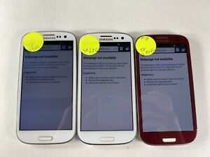 Lot of 3 Samsung Galaxy S3 S968C Tracfone *Unknown IMEI*