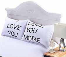 Valentines Day I Love You and Love You More Romantic Pillowcase Cover Gift Set