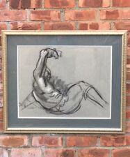 Original Lorser Feitelson Abstract Figurative Drawing. Signed