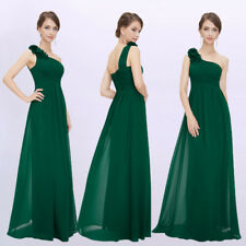 Ever-Pretty One Shoulder Celebrity Gown Green Formal A-Line Evening Dress 08237