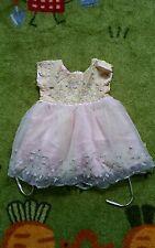 LITTLE MASS BEAUTIFUL PURE SILK ROSE FLOWER DETAIL GIRLS DRESS AGE 3 VGC!